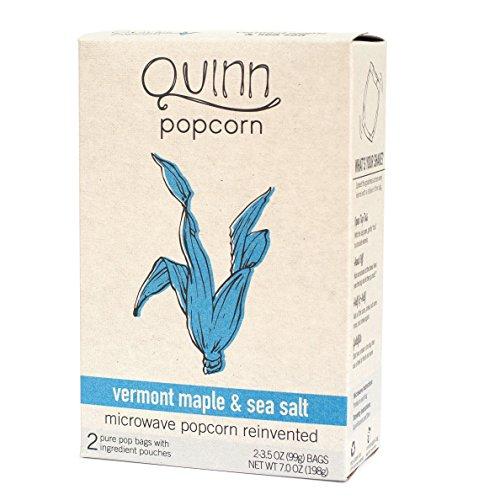 Microwave Popcorn, Vermont Maple & Sea Salt, 2 Bags, 3.5 Oz (99 G) Ea