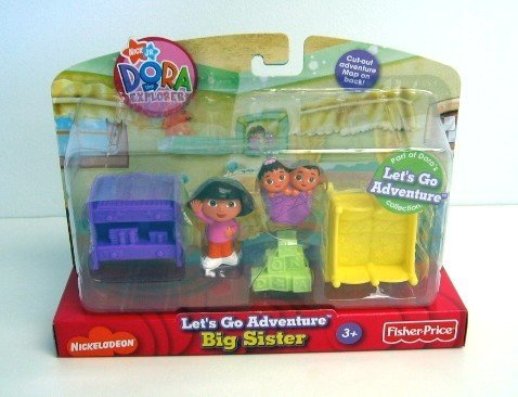 Dora The Explorer Let'S Go Adventure Big Sister Play Set ~ 5 Pieces front-768501