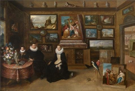 Oil Painting 'The Collection Of Paintings Of Sebastian Leerse By Frans Francken II,first Half Of 17th Century' 10 x 15 inch / 25 x 38 cm , on High Definition HD canvas prints, Bed Room, Home O decor (Leopard Print Tea Kettle compare prices)