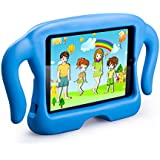 MOCREO® iPad mini /mini 2/ mini 3 Funcase Kido Series Safety EVA Light Weight Shock Proof Super Protection Kids Convertible Freestanding Handle Tablet Case Cover Merry Christmas Gifts for Kids Kiddie Funny Cases for Apple iPad mini /mini 2/ mini 3(Blue)