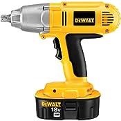 Amazon.com: DeWALT DW059K-2 18-Volt Ni-Cad 1/2-inch Cordless Impact Wrench Kit: Home Improvement