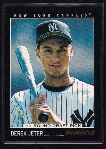 1993 Pinnacle # 457 Derek Jeter RC - New York Yankees - Baseball Rookie Card - Shipped In Protective Display Case!