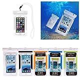 SHANGRUN Kamm Wasserdichte Handyhülle Wasserfeste Tasche( bis 5,5 Zoll) für Strand, Wandern, Outdoor (Schutz gegen Staub, Sand, Nässe / wasserdicht bis, Universal Wasserdicht Hulle Beutel Handyhulle Schutzhülle fur Apple iPhone 6 Plus, 6, 5S, 5C, 5; Galaxy S6,S6 Edge, S4, S3; MEIZU Mx4 Pro, Vivo x5 max, Huawei P8 Lite, HTC One X, Galaxy Note 4, Note 3,LG G4 etc. Weiß