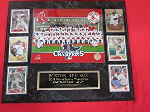 Boston Red Sox 2013 World Champions 6 Card Collector Plaque w 8x10 TEAM Photo by J & C Baseball Clubhouse