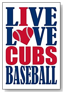 Live Love I Heart Cubs Baseball lined journal - any occasion gift idea for Chicago Cubs fans from WriteDrawDesign.com