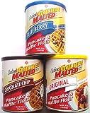 Carbon's Golden Malted Pancake & Waffle Flour Bundle: Blueberry, Chocolate Chip, Original, 16-Ounce Cans