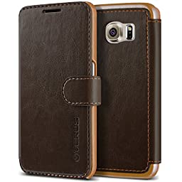 Galaxy S6 Case, Verus [Layered Dandy][Coffee Brown] - [Premium Leather Wallet][Slim Fit] For Samsung Galaxy S6