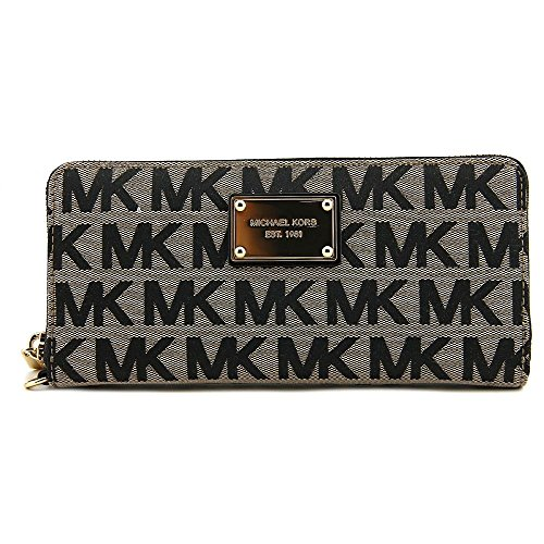Michael Michael Kors Logo Travel Centinental Donna Nero