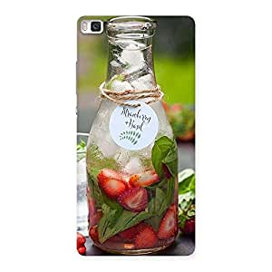 Strawberry and Basil Multicolor Back Case Cover for Huawei P8