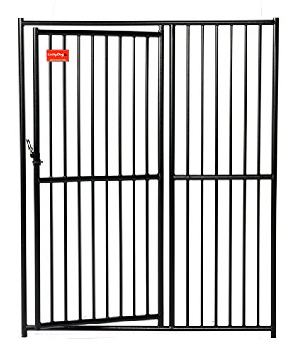 Lucky dog cl 65101 european style kennel gate 6 39 x 5 39 black Dog kennel layouts