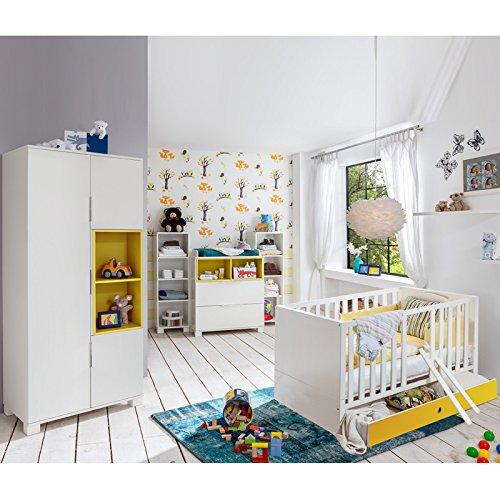 Babyzimmer Set »RISONU166Â« alpinweiß, gelb günstig bestellen