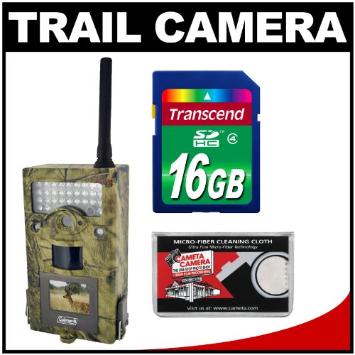 Coleman Chd700M Trail Cam Motion Sensor Digital Hd Video Camera With Infrared Night Vision With 16Gb Card Kit