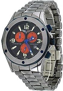 Corvette #CR202 Men's Stingray Deluxe Tungsten Swiss Chronograph Black Dial Watch