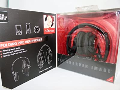 The Sharper Image Folding Pro Headphones