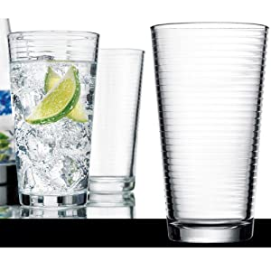 Solar Collection Glass Highball Coolers (Set of 6)