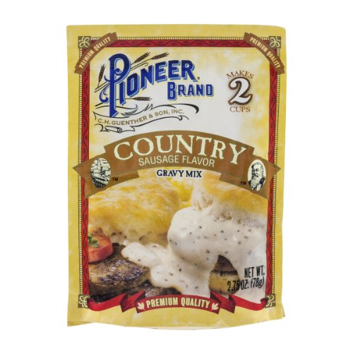 Pioneer Brand Country Sausage Flavor Gravy Mix, 2.75 Oz (Pack Of 24)