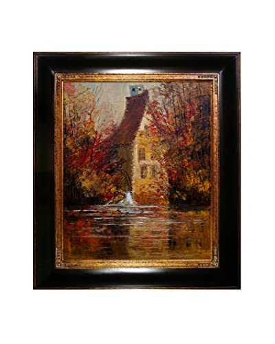 Justyna Kopania Old Mill II Framed Canvas Print