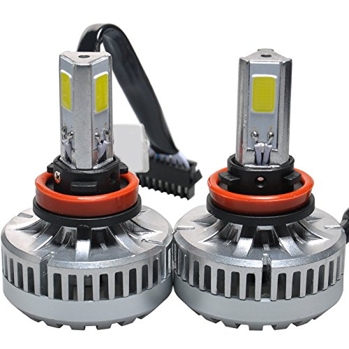 BPS LED Headlight Conversion Kit H11 / H8 / H9 80w 7200lm 6000K Cool White COB LED 3-Sided 360° Beam Angle (Pack of 2) (H11 80w Led Headlight Bulb compare prices)