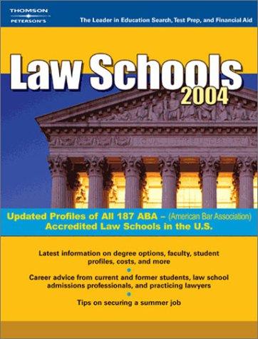 Law Schools 2004 (Peterson'S Law Schools)