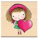 "Penny Black Rubber Stamp 2.75""X2.75""-Mimi's Heart"