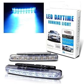 Euro Style Super White 8 LED Daytime Running Light Kit for BMW
