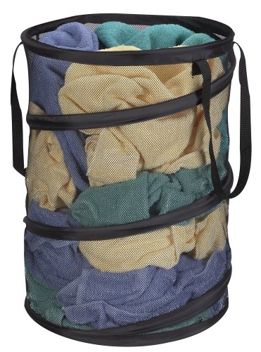 Household Essentials Pop-Up Collapsible Mesh Laundry Hamper, Black (Laundry Hamper Portable compare prices)