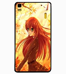 ColourCraft Beautiful Girl Design Back Case Cover for LENOVO K3 NOTE