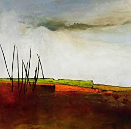 27W x 27H Fascinating Landscape III by Emiliana Cordaro - Stretched Canvas w/ BRUSHSTROKES