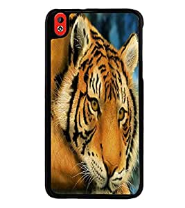 Fuson Premium 2D Back Case Cover Lion on Rocks With Red Background Degined For HTC Desire 826::HTC Desire 826 Dual