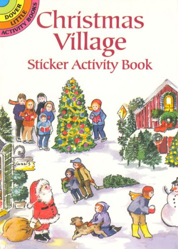Christmas Village Sticker Activity Book (Dover Little Activity Books)