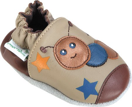Soft Sole Baby Shoe in Caterpillar Taupe Size: Size 4 (18-24 Months)