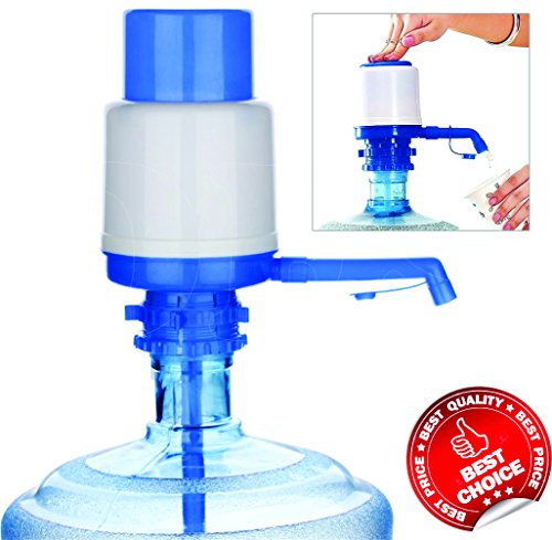 DFS's High Quality AQUA HAND PRESS MANUAL PUMP DISPENSER FOR BOTTLED DRINKING WATER (Colors may Vary)  available at amazon for Rs.180
