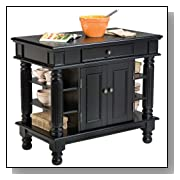 Black Oak Americana Kitchen Island