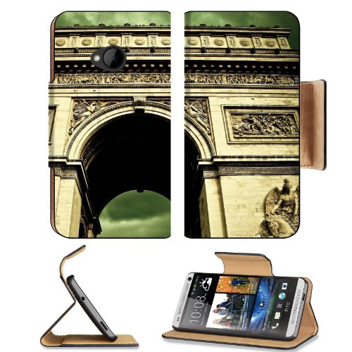 Angels Paris Clouds France Arc De Skies Htc One M7 Flip Cover Case With Card Holder Customized Made To Order Support Ready Premium Deluxe Pu Leather 5 11/16 Inch (145Mm) X 2 15/16 Inch (75Mm) X 9/16 Inch (14Mm) Msd Htc One Professional Cases Accessories O