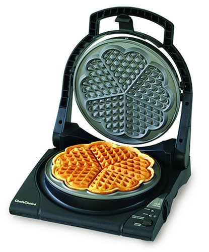 Review Chef's Choice M840 WafflePro Express Waffle Maker, Traditional Five of Hearts