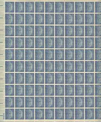 Monticello Sheet of 100 x 20 Cent US Postage Stamps NEW