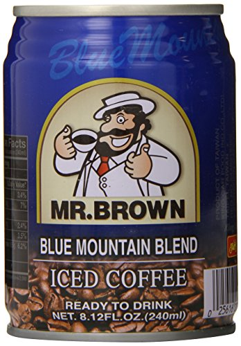 Mr. Brown Iced Coffee, Blue Mountain, 8.12 Ounce (Pack of 24) (Mr Brown Ice Coffee compare prices)