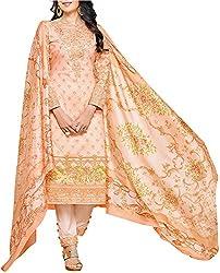 VIDA Women's Cotton Salwar Suit Material (Orange)
