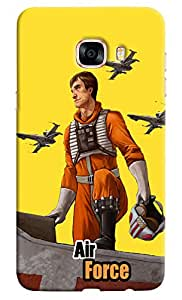 Omnam Airforce cartoon back cover for Samsung Galaxy C7