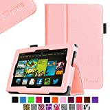 Fintie Amazon All New Kindle Fire HD 7 inch Slim Fit Folio Case with Auto Sleep / Wake Feature (will only fit All New Kindle Fire HD 7 2013 Model) - Pink