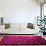 Lavish Home High Pile Carpet Shag Rug, 30 by 60-Inch, Pink