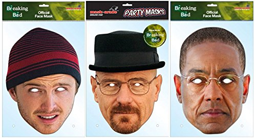 Breaking Bad - Triple Pack of Card Masks - Official Licensed Products