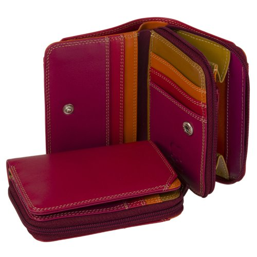 mywalit-11cm-quality-leather-wallet-purse-with-zippered-closure-226-gift-boxed-berry-blast