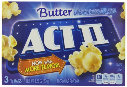 Act Ii Popcorn, Butter, 3 Count (Pack Of 12)