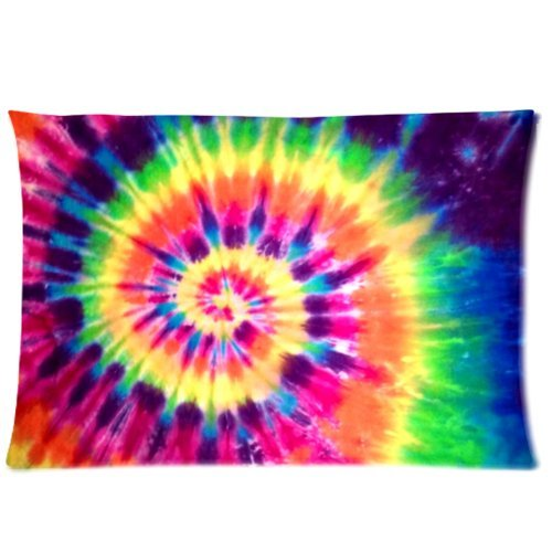 tie dye two sides rectangle zippered view now decorative tie dye