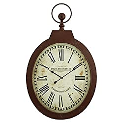 Aspire Louis Oval Wall Clock, Red