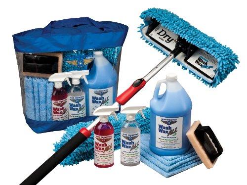 RV Aircraft Boat Car Waterless Wash Wax Mop Kit
