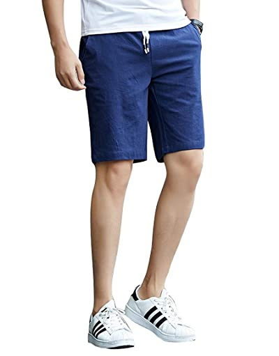 Felsodg サルエルパンツ メンズ ハーフ ワイド ステテコ ショート 麻 夏 しちぶ丈 五分丈 クロップド ファッション カジュアル ズボン おしゃれ 袴 調整紐 ゆったり 通気性 大きいサイズ 無地 通気性 速乾軽