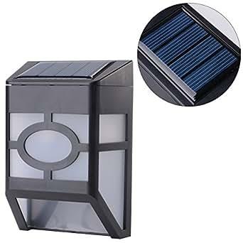 B And M Solar Wall Lights : Xcellent Global 8 Pack Solar Powered 2 LED Outdoor Wall Light Landscape Garden Fence Light ...