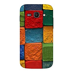 Stylish Color Cubes Multicolor Back Case Cover for Galaxy Ace 3